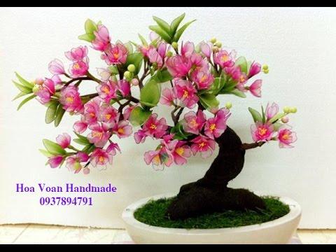 Hướng dẫn cách làm hoa voan - Bài 2 . Hoa Đào