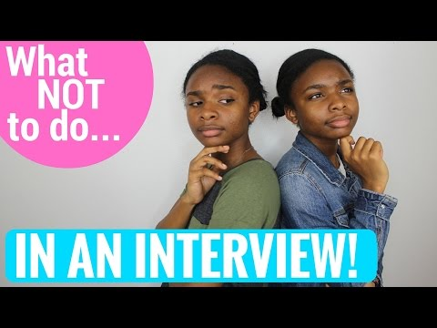 What NOT To Do In An Interview! | Comedy | Deja and Di-V
