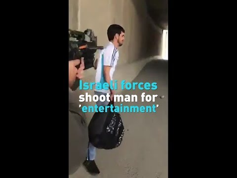 Israeli Officers Film Shoot Palestinian In The Back