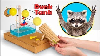 Let's play! Will Racoon Help Us To Make Brand New Dunk Tank Game?
