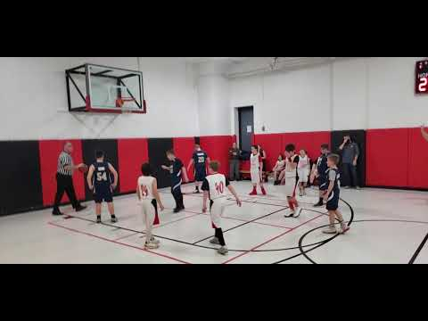 Monongah Middle School 6th Grade Boys Basketball vs East Fairmont Blue (Clip #9)