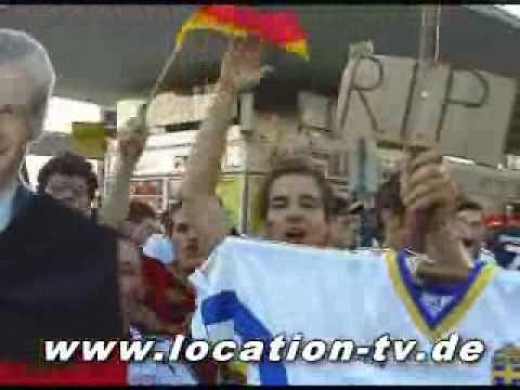 WM Party in Germany - Worms Bahnhof - Ausnahmezustand