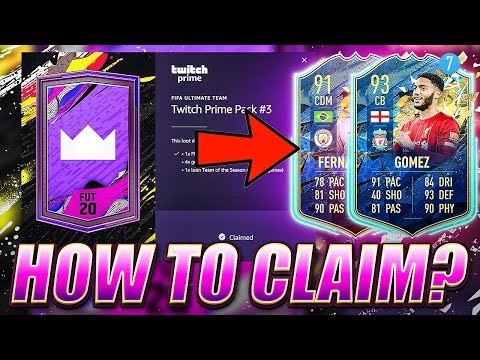 HOW TO CLAIM TWITCH PRIME PACK 3! FIFA 20