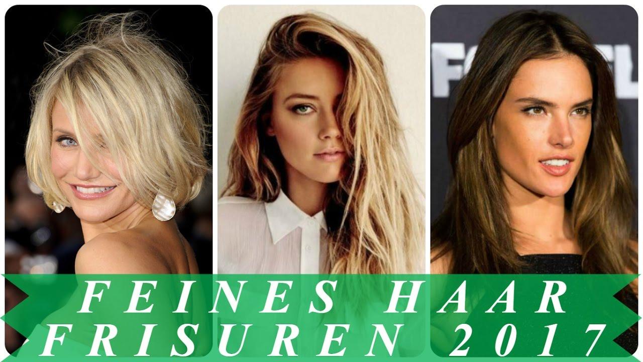 Trendfrisuren Für Feine Haare 2017 Frauen Youtube