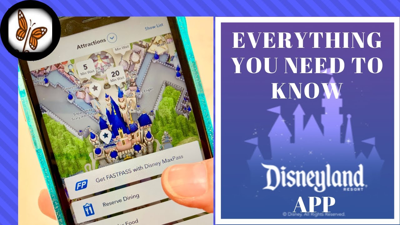 How to Use the Disneyland Mobile App and MaxP | Step by Step Tutorial Disneyland Map App on disney world map app, disneyland street map, six flags map app,