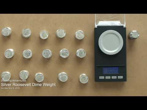 How much does an Uncirculated Silver Dime Weigh?