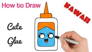 How to Draw a Glue Cute School stuff drawings / Back to School