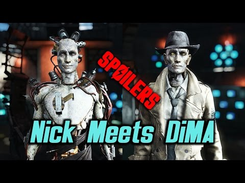 Fallout 4 Far Harbor - Nick Meets DiMA *SPOILERS*