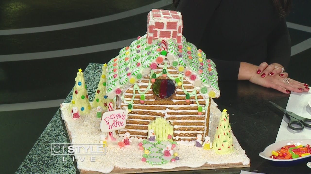 Haddam Killingworth High School shows us how to decorate gingerbread houses
