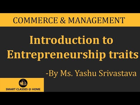 Entrepreneurship traits | Yashu Srivastava