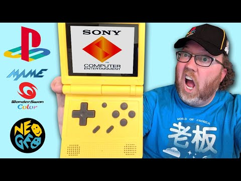 This GBA SP clone plays PS1 Games and more!