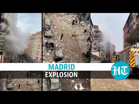 Watch: Explosion in Spain's Madrid; building collapses, debris covers street