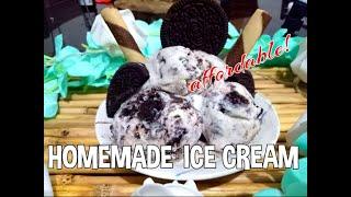 Easy Homemade Cookies and Cream Ice cream: Cream+Oreo+Condense+Evap | DIY Ice Cream