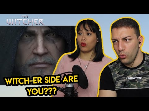 The Witcher 3: Wild Hunt - Killing Monsters Cinematic Trailer REACTION | COUPLE REACTS