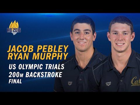 Cal Men's Swimming: Ryan Murphy & Jacob Pebley - US Olympic Trials (100 backstroke final)