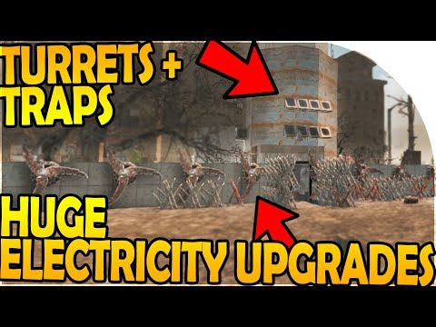 HUGE BASE ELECTRICITY UPGRADES - TURRETS + TRAPS - 7 Days to Die Alpha 16 Gameplay Part 48 (S2)