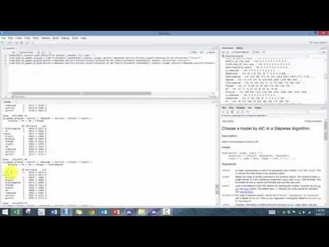 Introduction to R Programming - Module 7 (Step Function/Model Selection)