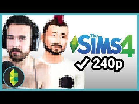 Playing The Sims 4 in 240p (Sims 4 Challenge)