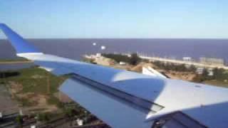 Pluna CRJ 900 - Landing at Aeroparque - Buenos Aires