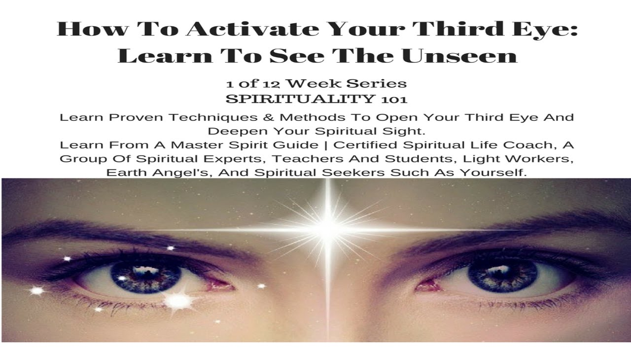 how to see through your third eye