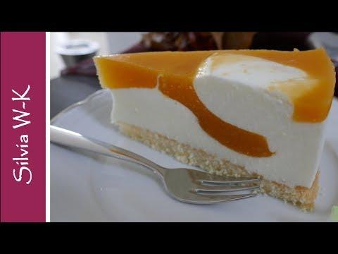 Mangotorte - Wirbeltorte - Torte mit schöner flexibler Innenstruktur - einfach