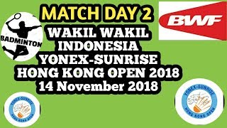 Live Score  🏸 YONEX-SUNRISE Hong Kong Open 2018 14 November Day 2