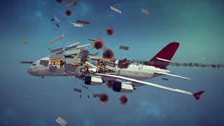 Large Airplanes Shot Down by Three Types of Guided Missiles #2   Besiege thumbnail