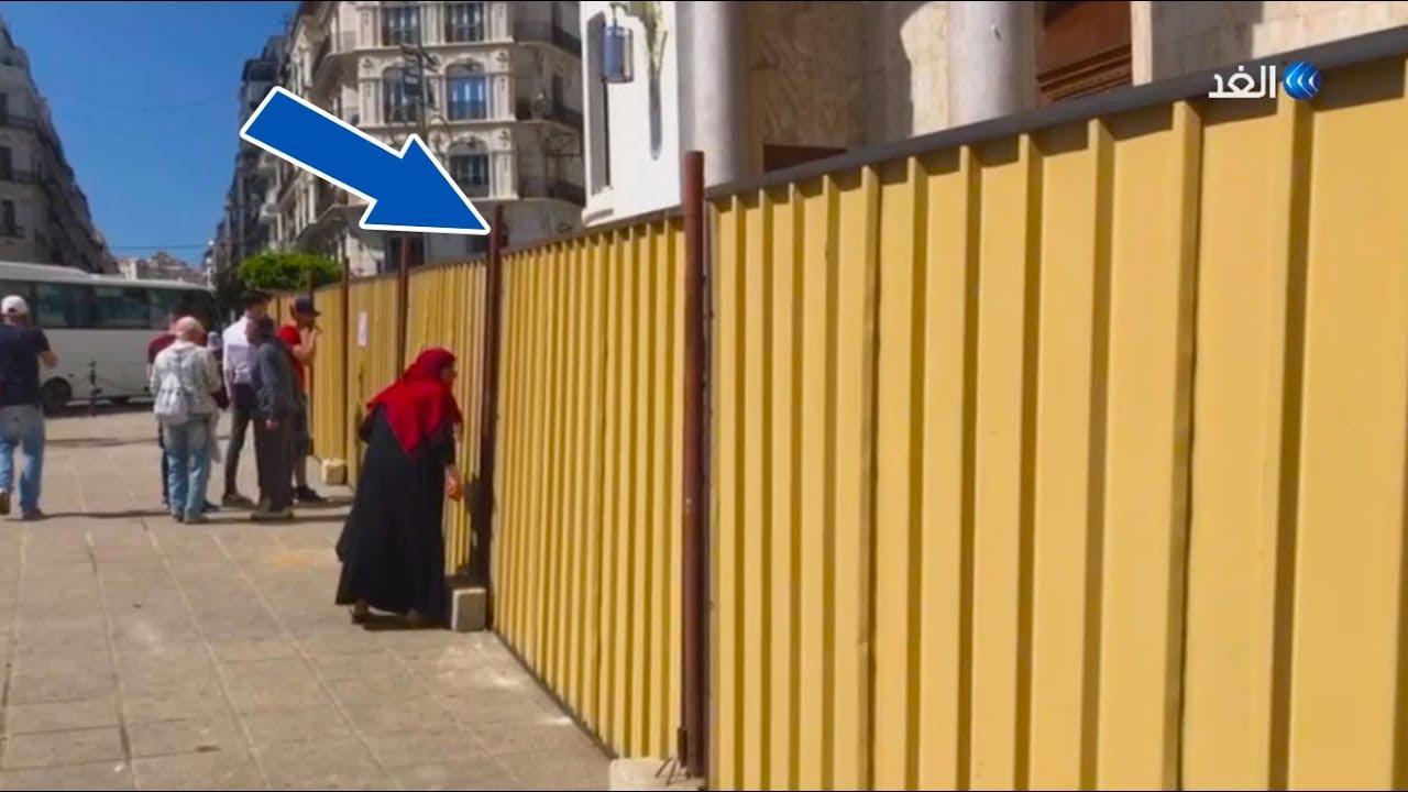 قناة الغد:شاهد كيف أصبحت ساحة البريد المركزي بعد غلق السلالم بالصفائح الحديدية