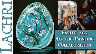 20 minute Easter Egg Acrylic Painting Challenge - Lachri