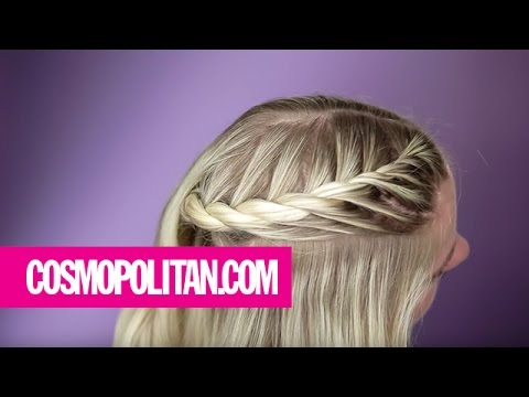 Two Strand French Braid Tutorial Cosmopolitan Youtube