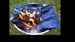 Repeat youtube video burning jeans - part 3