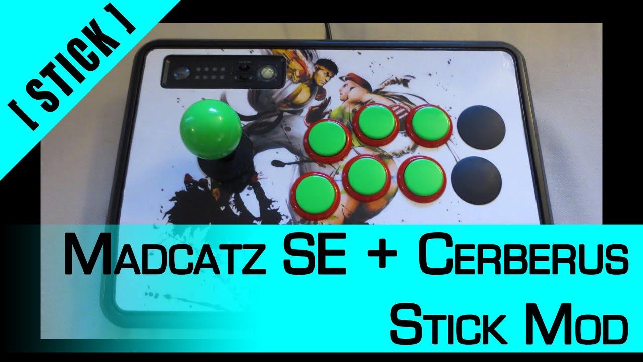 Arcade Stick Mod] Part 2: Madcatz + Cerberus - PC/X360/PS3/PS4 - YouTube