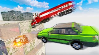 SLAMMING Cars Into a Building From a CLIFF - Teardown Mods Gameplay