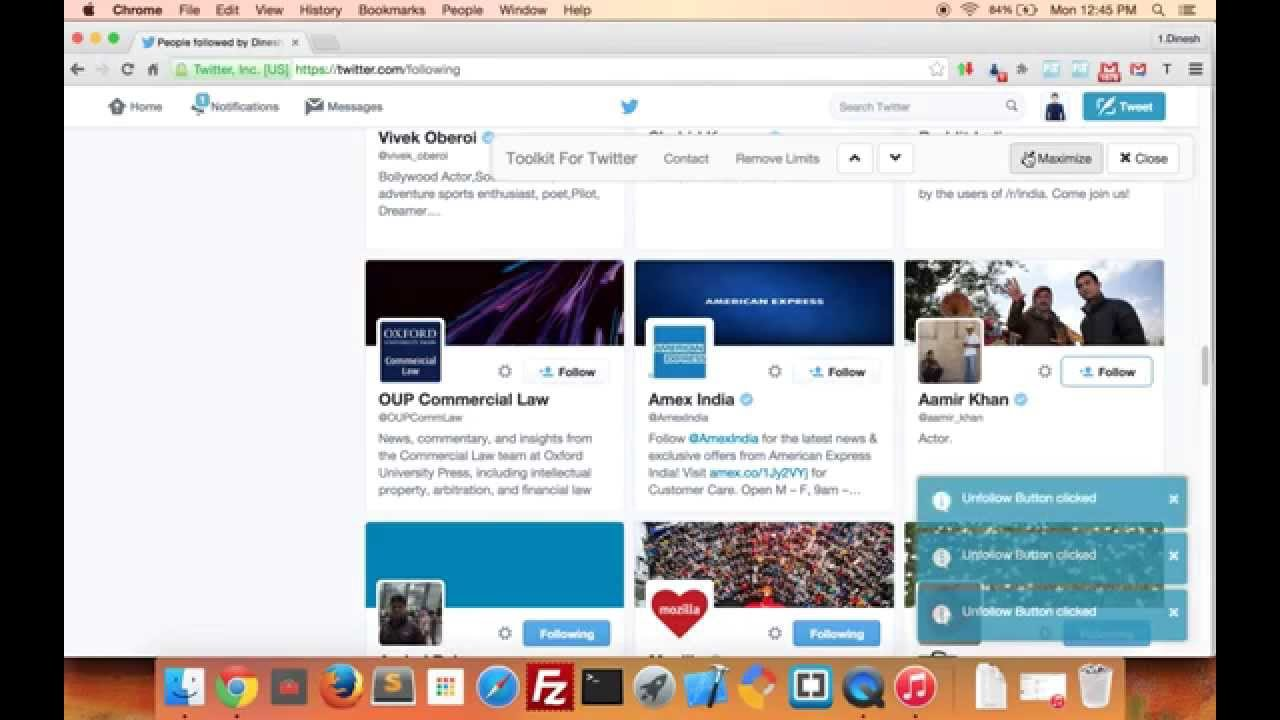 How To Unfollow Everyone On Twitter Using Toolkit For Twitter Chrome  Extension