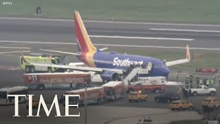Safety Authorities Say Southwest Jet's Blown Engine Showed 'Metal Fatigue' | TIME thumbnail