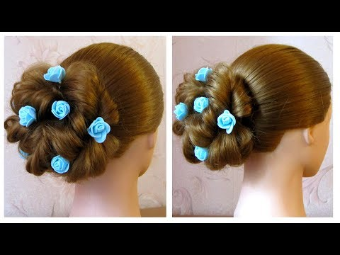 Romantic evening / wedding hairstyle for long and medium hair, easy and fast