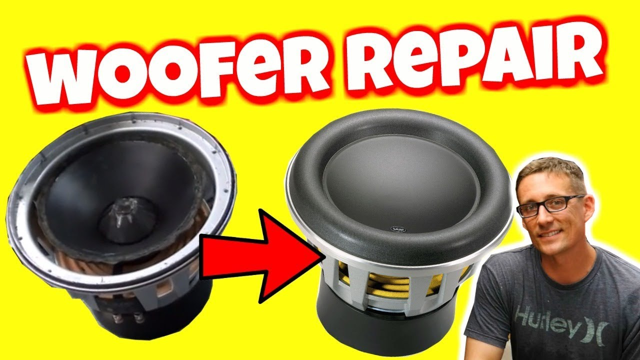 HOW TO REPAIR A SUBWOOFER (EASY) - YouTube