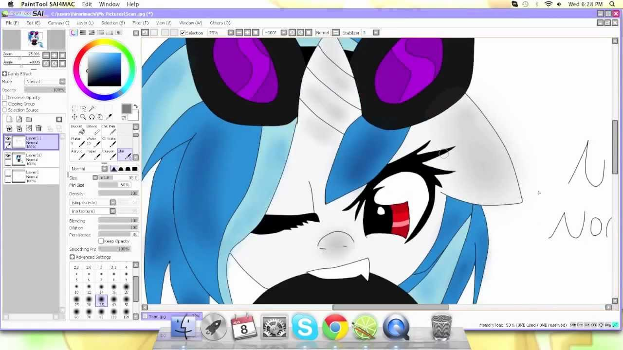 Vinyl Scratch Dj Pon3 Speed Paint My Little Pony Fim