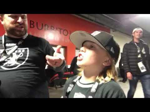 Young Zennie62 Fan Celebrates Oakland Raiders Win vs KC Chiefs #KCvsOAK