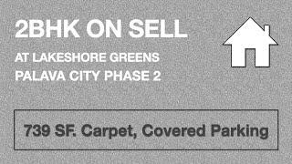 2bhk on sell at Lakeshore Greens Near Lake | Lakeshore Greens Palava