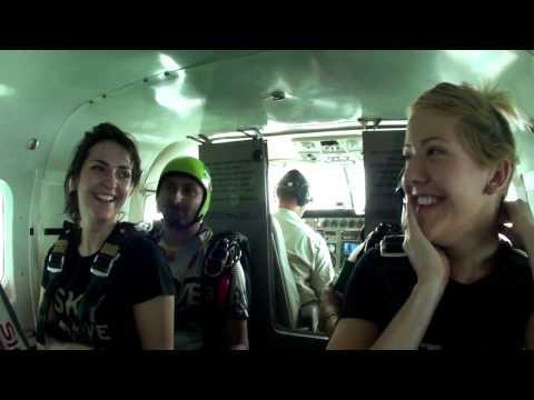 ELLIE GOULDING AT SKYDIVE DUBAI