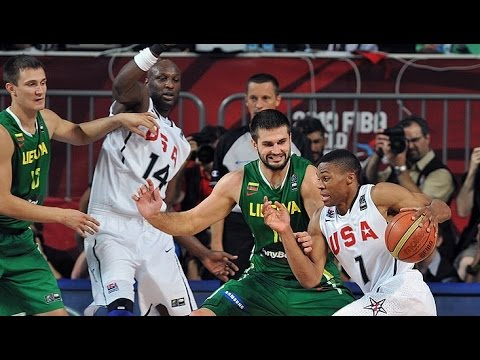 USA vs Lithuania 2010 FIBA World Basketball Championship Semi Finals FULL GAME English