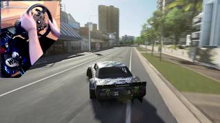 If Ken Block Played Forza Horizon 3?! RWD Drifting the Hoonicorn in Gymkhana 10.5! *WHEEL SKILLS