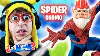 **SPIDER-GNOMO** CHALLENGE en Fortnite Battle Royale!! (Reto GANAR con el Nuevo Gnomo Spiderman)