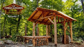 Clay Pizza Oven Foundation | The Forest Kitchen | Off Grid Log Cabin Build, Ep.7 S1