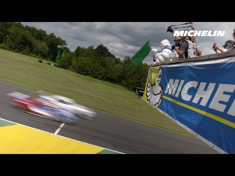 Michelin Man works out for flag waving duties