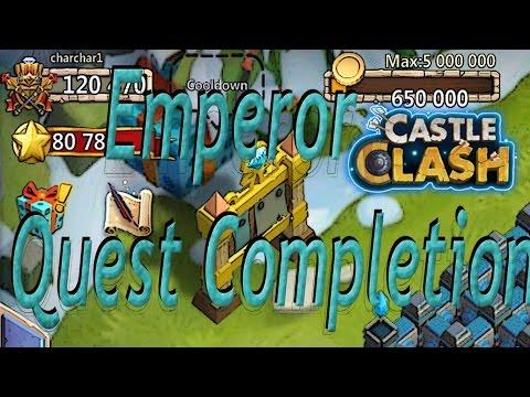 Castle Clash Emperor Quest Board Completion (Crazy Rewards)