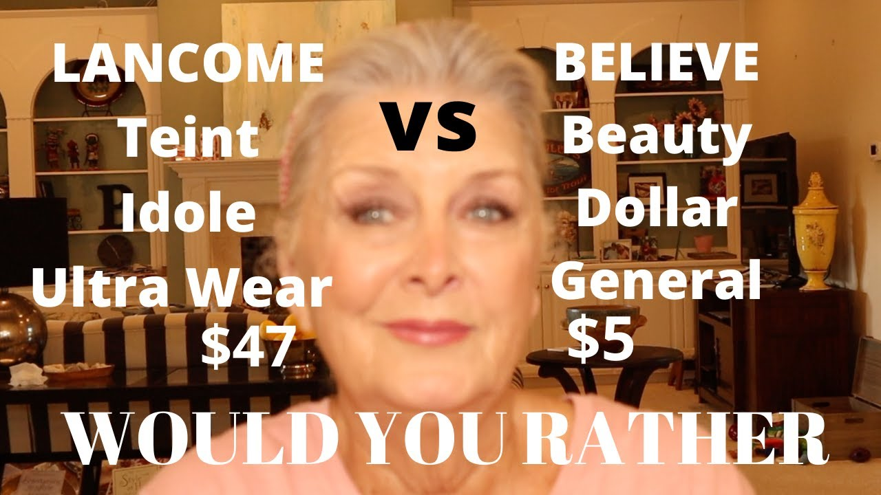GRWM~LANCOME ($47) vs  Dollar General BELIEVE ($5) ~ OVER 70 ~ WhichWouldYouRather Use? 🌸