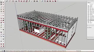 Как построить каркасный дом своими руками? Проект дома в скетчап(SketchUp).