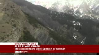 Germanwings plane crash site (First Pictures) - BBC News